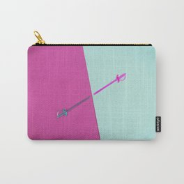 Magenta vs Cyan Carry-All Pouch