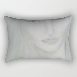 Where does she sit my muse. III Rectangular Pillow