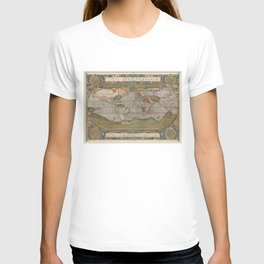Vintage Map of The World (1608) T-shirt
