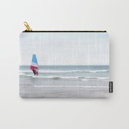 Windsurfer with Red White and Blue Carry-All Pouch