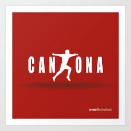 King Cantona Art Print