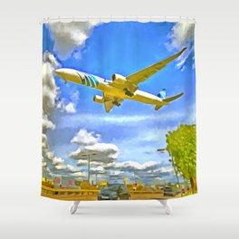 Airliner Pop Art Shower Curtain