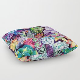 Succulent Garden Floor Pillow