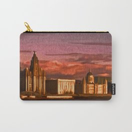 Liverpool Waterfront at Sunset (Digital Art) Carry-All Pouch