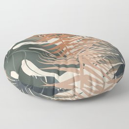 Abstract Tropical Art V Floor Pillow