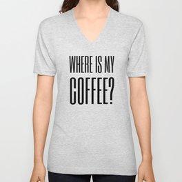 Coffee IV Unisex V-Neck