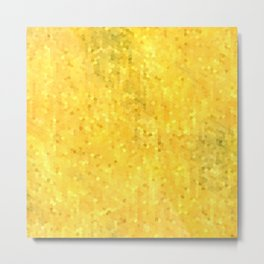 Gold Shimmer Mosaic Metal Print