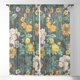 Midnight Garden XX Sheer Curtain