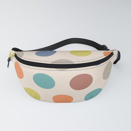 Colorful Mid Century Modern Polka Dots 522 Fanny Pack