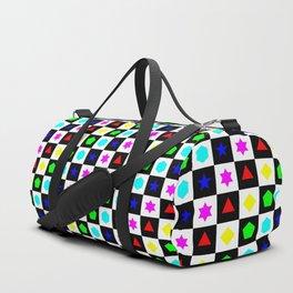 Regular Polygons on Chessboard 24x24 Duffle Bag