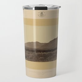 Geological Exploration of the Fortieth Parallel (1869) - Wahsatch Mountains from Ogden, Utah Travel Mug