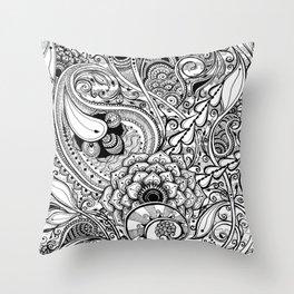 Procrastidoodle Throw Pillow