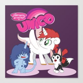 My Little Unico Canvas Print