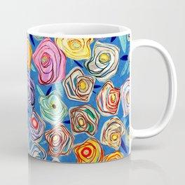 Grandmother Smiles Garden Blue London Coffee Mug