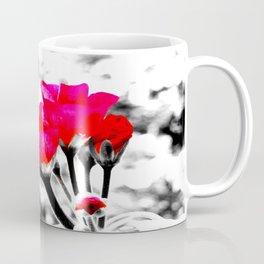 Hot Pink Flowers Pop Of Color Coffee Mug