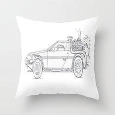 Great Scott! It's a DeLorean! Throw Pillow