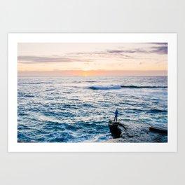 Looking out at La Jolla Shores Fine Art Print Art Print