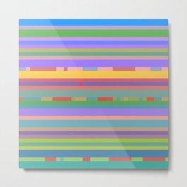 Bright Mosaic Stripes Metal Print