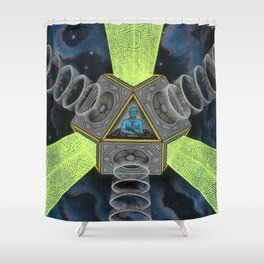 Vectron Equilibrius Shower Curtain