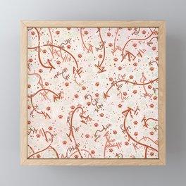 Peppermint Candy Paw Prints Framed Mini Art Print
