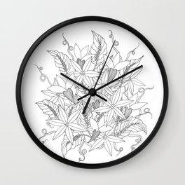 Floral #4 Wall Clock