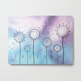 Magic Dandelions Metal Print