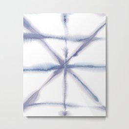 Light Dye - Folding Blues Metal Print