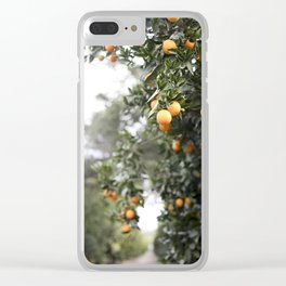 Ojai Oranges Clear iPhone Case