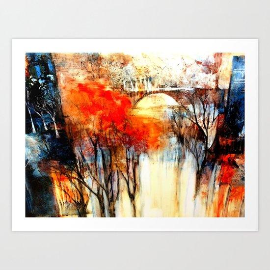 Morning Fog Reflection Art Print