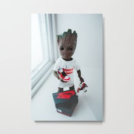 action figure dressed in hypebeast outfit with sneakers Metal Print