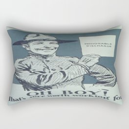 Vintage poster - Honorable Discharge Rectangular Pillow