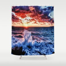 SuNset Waters Shower Curtain