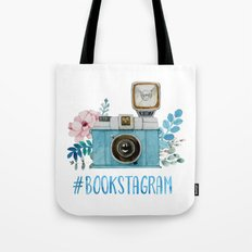 Blue Bookstagram Tote Bag
