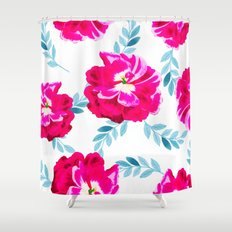 Fluorescent Florals #society6 #decor #buyart Shower Curtain