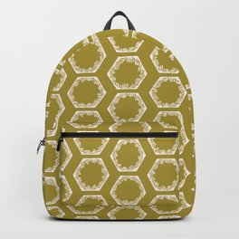 Hexagonal Abstract Geometric Doodle Shapes Backpack