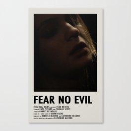 Fear No Evil Poster Canvas Print