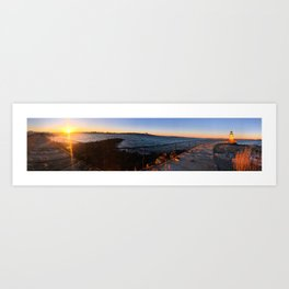 February Sunset at Bug Light (3) Art Print