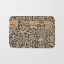 Honeysuckle by William Morris 1876 Antique Vintage Pattern, CC0 Spring Summer Bath Mat
