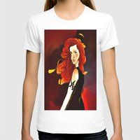 the mortal instruments T-shirts featuring Clary Fray from The Mortal Instruments by Cassandra Clare by Amitra Art