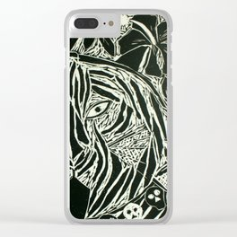 Bengal Tiger 'Bagh Kali' Clear iPhone Case