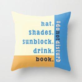 Summer #donotdisturb Throw Pillow