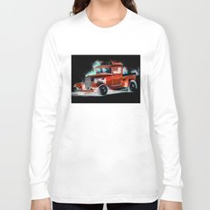 Red Street Rod By Annie Zeno  Long Sleeve T-shirt