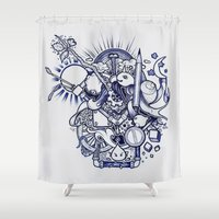 doodle Shower Curtains featuring Doodle by Puddingshades