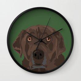 Mocha Wall Clock