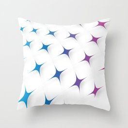 BLUE AND PURPLE STARS Abstract Art Throw Pillow