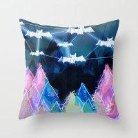 bats Throw Pillows featuring bats by Itsybats