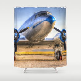 Malev Lisunov Li-2 Shower Curtain