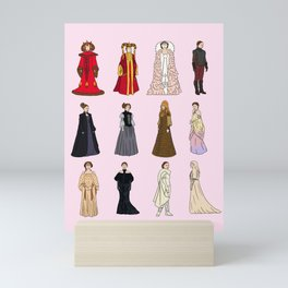 """Padme Amidala Outfits"" by Doodle by Meg Mini Art Print"