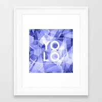 sayings Framed Art Prints featuring Dreams of YOLO Vol.3 by HappyMelvin