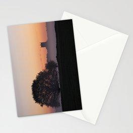 Fakenham Parish Church on a misty dawn morning at sunrise, Fakenham, Norfolk, UK Stationery Cards